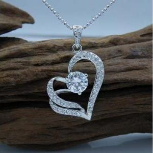 Fashion Heart Necklace (Color Silve..